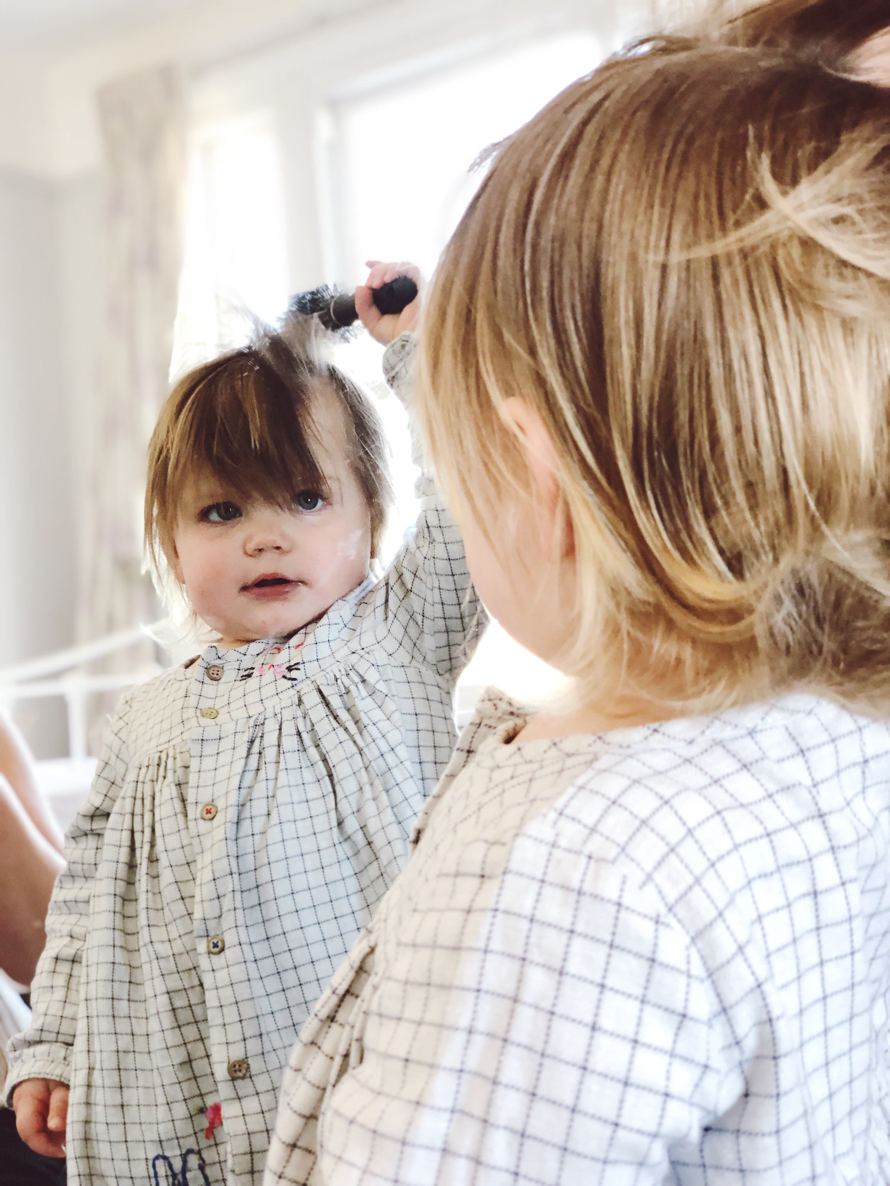 little girl in the mirror