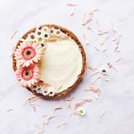 white chocolate and ginger pie torte